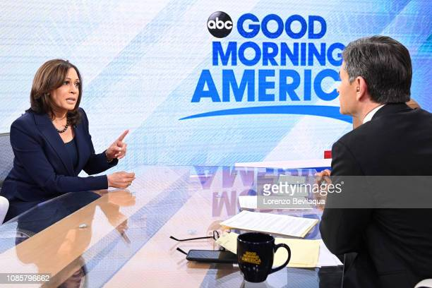 AMERICA Senator Kamala Harris announced she is running for president in 2020 today Monday January 21 2019 on Walt Disney Television via Getty...
