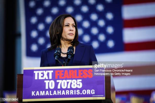 Senator Kamala Harris makes her first presidential campaign appearance at a rally in her hometown of Oakland, California, on Sunday, Jan. 27, 2019....