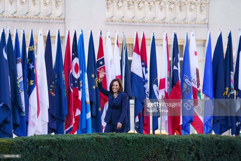 Kamala Harris Launches Presidential Campaign In Her Hometown Of Oakland : News Photo
