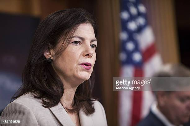 Senator Kelly Ayotte speaks at a press conference with Senator John McCain , Senator Lindsey Graham , and Senator Richard Burr to announce new...