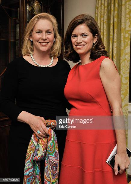 Senator Kirsten Gillibrand and New Washington DC Editor Giovanna Gray Lockhart attend a reception to honor Lockhart as the new Glamour Washington DC...