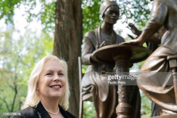 Senator Kirsten Gillibrand attends gathering of elected officials and advocates in response to Texas abortion ban at Central Park at Women's Rights...