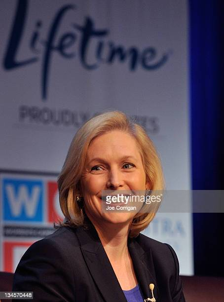 Senator Kirsten Gillibrand attends Lifetime Television's 2012 'Every Woman Counts' campaign at Hofstra University on December 2 2011 in Hempstead New...