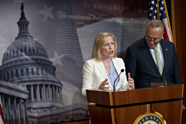 DC: Senators Schumer And Gillibrand Hold News Conference On 9/11 Victims Compensation Fund