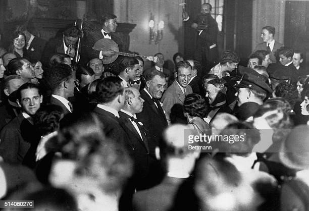 Senator Lehman with the Roosevelts
