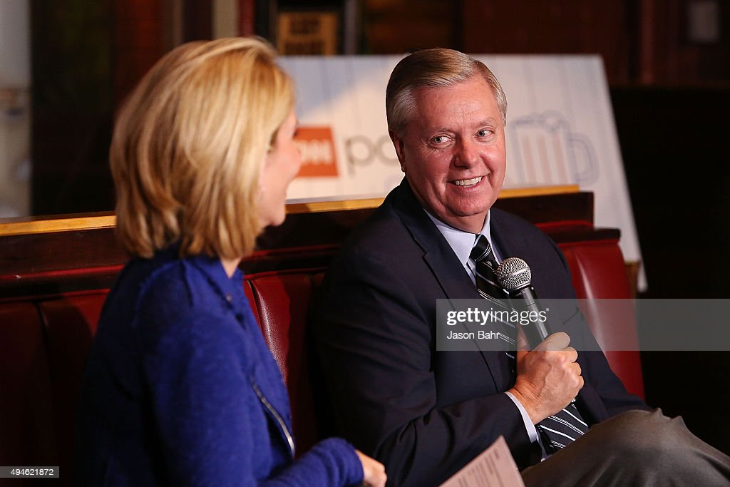 Senator Lindsey Graham is interviewed by Dana Bash during CNN's Politics On Tap at Walnut Brewery on October 27, 2015 in Boulder, Colorado. 25763_001