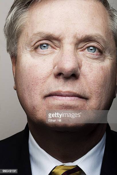 Senator Lindsey Graham Republican from South Carolina poses at a portrait session for Newsweek Magazine in 2010 Published image