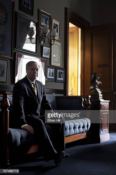 Senator Lindsey Graham Republican of South Carolina Lindsey Graham poses at a portrait session for Newsweek on March 01 2010 in Washington District...