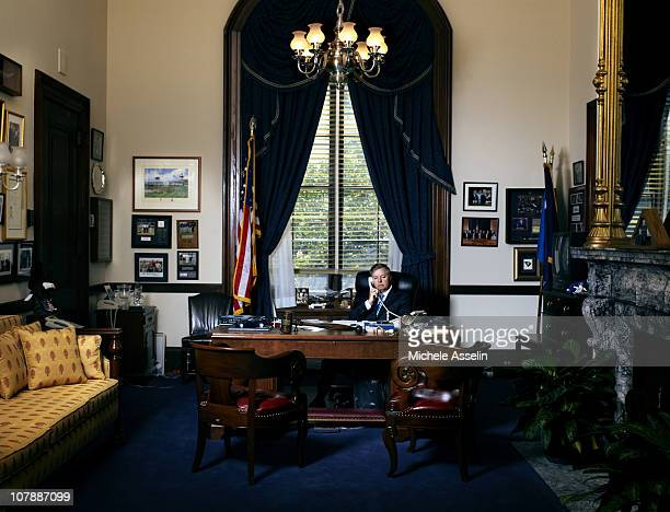 Senator Lindsey Graham Republican of South Carolina poses at a portrait session for New York Times Magazine on June 01 2010 in Washington District of...