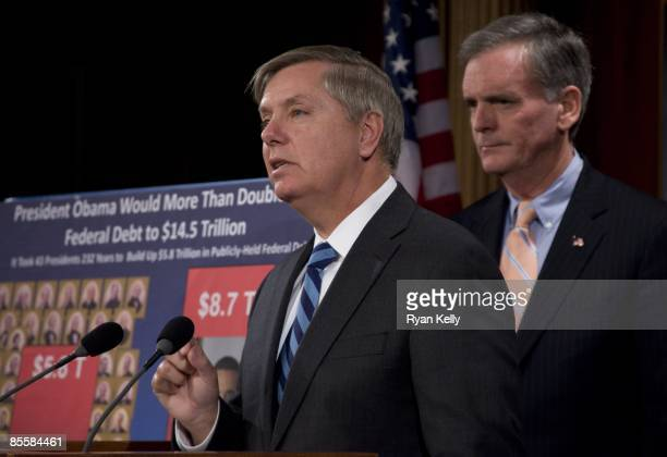 Senator Lindsey Graham RSCcriticizes the amount of spending and debt in President Obama's budget proposal Sen Judd Gregg ranking Republican on the...