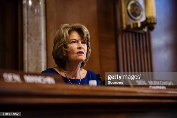 Senator Lisa Murkowski a Republican from Alaska and chairman of the Senate Energy and Natural Resources Committee speaks during a confirmation...