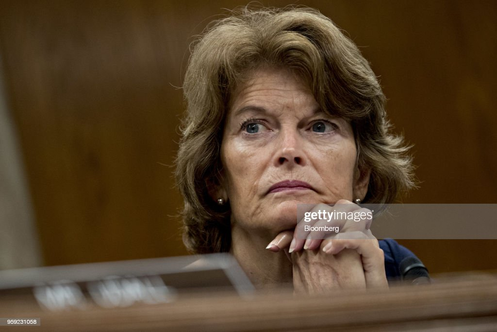 Senator Lisa Murkowski, a Republican from Alaska and chairman of the Senate Appropriations Subcommittee on the Interior and Environment, listens during a hearing with Scott Pruitt, administrator of the Environmental Protection Agency (EPA), not pictured, in Washington, D.C., U.S., on Wednesday, May 16, 2018. Pruitt faced intense criticism in his first Senate testimony since a crush of ethical allegations that have put his job in jeopardy. Photographer: Andrew Harrer/Bloomberg via Getty Images
