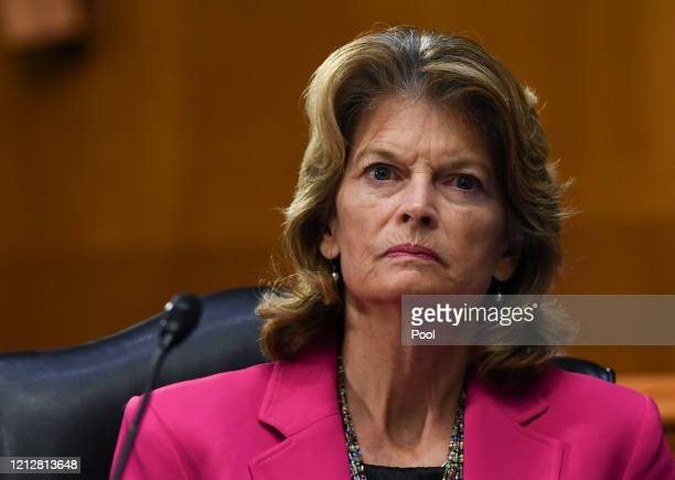 Senator Lisa Murkowski listens to testimony during the Senate Committee for Health, Education, Labor, and Pensions hearing on COVID-19 May 12, 2020...