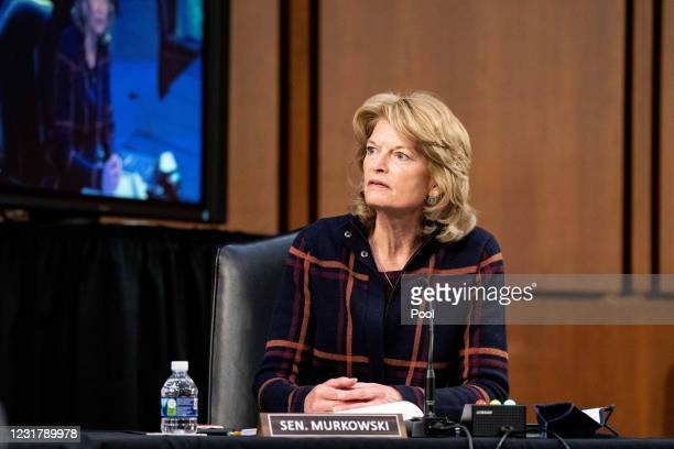Senator Lisa Murkowski, R-Alaska, speaks during a hearing, with the Senate Committee on Health, Education, Labor, and Pensions, on the Covid-19...
