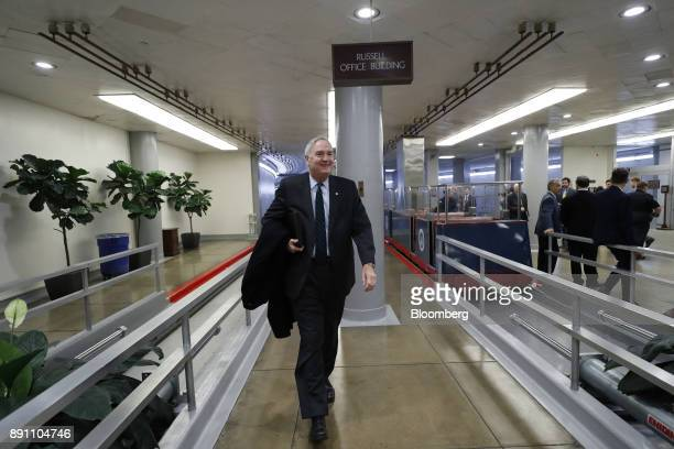 Senator Luther Strange a Republican from Alabama walks to a weekly GOP luncheon meeting at the US Capitol in Washington DC US on Tuesday Dec 12 2017...