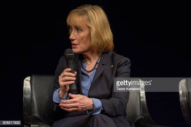 Senator Maggie Hassan at the Newsuem TIME Presents The Opioid Diaries With James Nachtwey on March 6 2018 in Washington DC