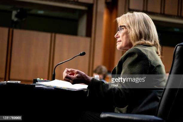 Senator Maggie Hassan, D-NH., speaks during a hearing, with the Senate Committee on Health, Education, Labor, and Pensions, on the Covid-19 response,...