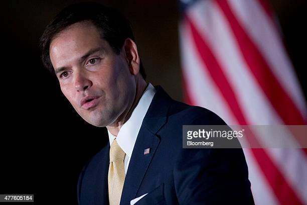 Senator Marco Rubio a Republican from Florida and 2016 presidential candidate speaks during the Faith and Freedom Coalition's 'Road to Majority'...