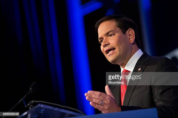 Senator Marco Rubio a Republican from Florida and 2016 presidential candidate speaks during the Values Voter Summit in Washington DC US on Friday...