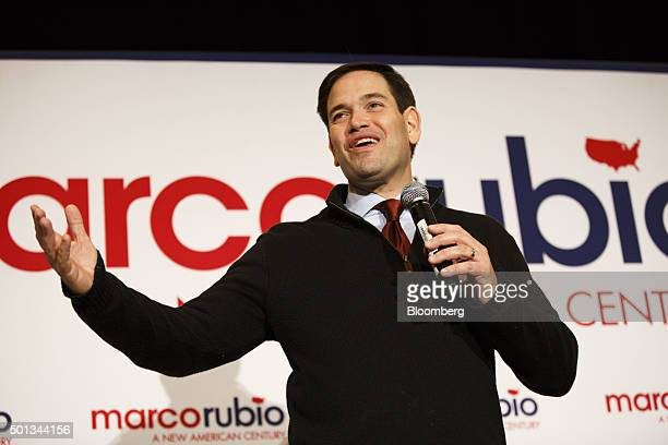 Senator Marco Rubio a Republican from Florida and 2016 presidential candidate speaks during a campaign rally in Las Vegas Nevada US on Monday Dec 14...