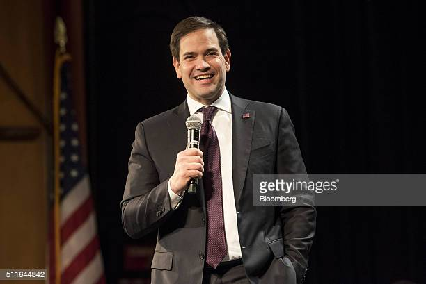 Senator Marco Rubio a Republican from Florida and 2016 presidential candidate speaks during a campaign event at Texas Station Gambling Hall and Hotel...