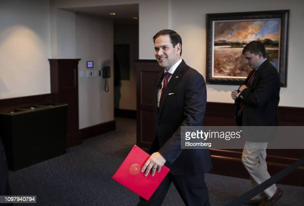 Senator Marco Rubio a Republican from Florida arrives for an event at the Heritage Foundation in Washington DC US on Monday Feb 11 2019 Rubio...