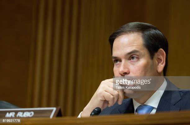 Senator Marco Rubio at Capitol Hill on July 20 2017 in Washington DC