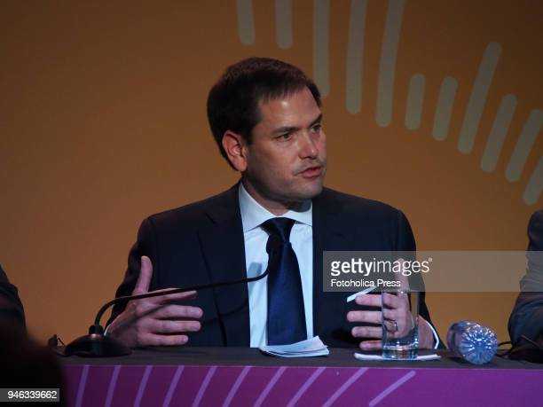 S Senator Marco Rubio gives a press conference in the framework of the VIII Summit of the Americas The event takes place on April 13rd and 14th 2018...