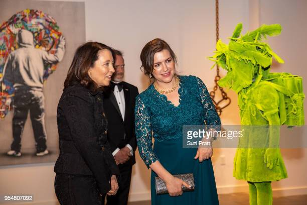 Senator Maria Cantwell and Iceland First Lady Eliza Reid tour the Nordic Museum on May 4 2018 in Seattle Washington
