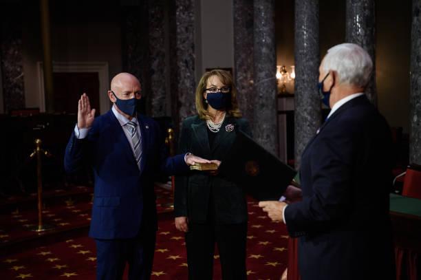 DC: Mark Kelly Sworn-In As Democratic Arizona Senator