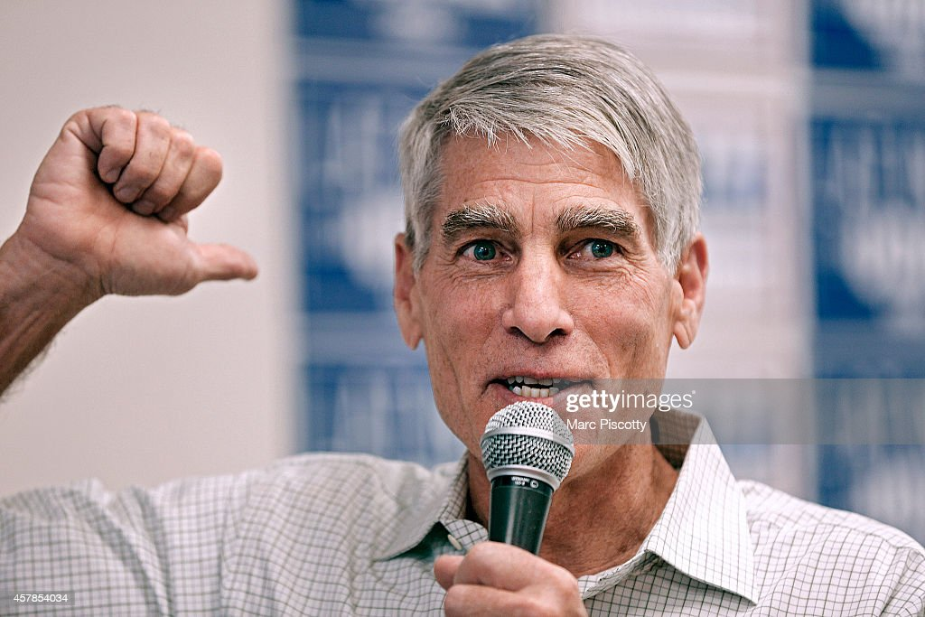 Sen. Mark Udall Campaigns For Re-Election In Denver Area