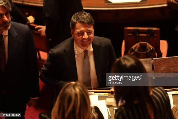Senator Matteo Renzi in the Senate Chamber in the Senate Chamber in Rome Italy on February 12 2020
