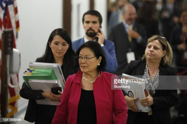 Senator Mazie Hirono a Democrat from Hawaii returns to a Senate Judiciary Committee hearing in Washington DC US on Thursday Sept 27 2018 Blasey Ford...