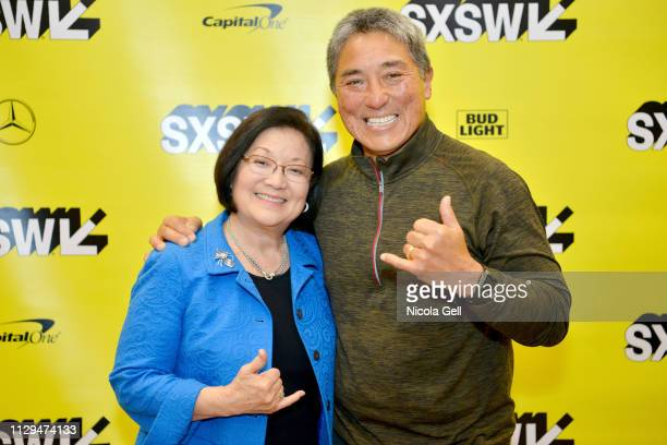 Senator Mazie K Hirono and Guy Kawasaki attend Featured Session Senator Mazie Hirono with Guy Kawasaki during the 2019 SXSW Conference and Festivals...