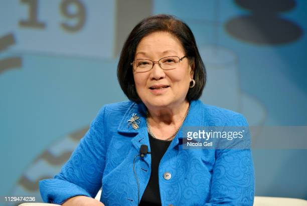 Senator Mazie K Hirono speaks onstage at Featured Session Senator Mazie Hirono with Guy Kawasaki during the 2019 SXSW Conference and Festivals at...
