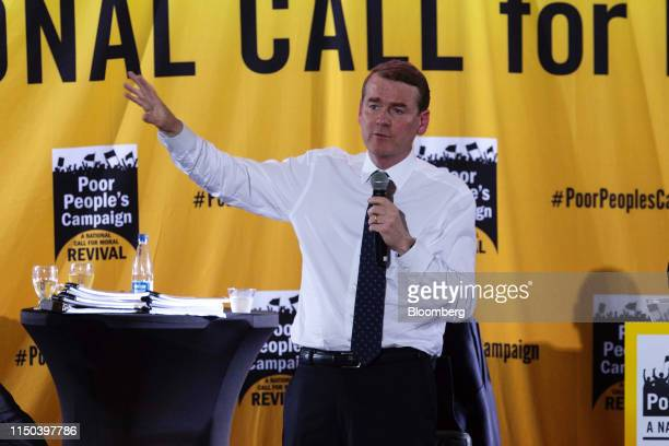 Senator Michael Bennet a Democrat from Colorado and 2020 presidential candidate speaks during the Poor People's Campaign Forum in Washington DC US on...