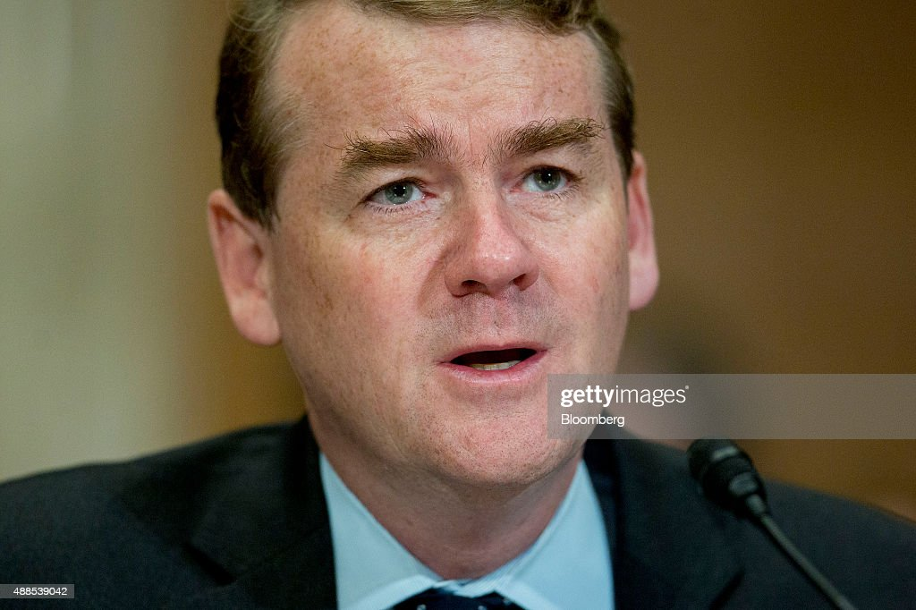 Senator Michael Bennet, a Democrat from Colorado, speaks during a Senate Environment and Public Works Committee hearing on the Gold King mine disaster in Washington, D.C., U.S., on Wednesday, Sept. 16, 2015. The August spill occurred when contractors for the Environmental Protection Agency (EPA) tried to open the blocked Gold King Mine to address leaks near Silverton, Colorado, accidentally releasing the toxic mining wastewater into the Animas River. Photographer: Andrew Harrer/Bloomberg via Getty Images