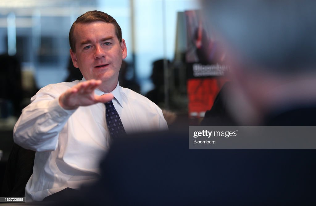 Democatic Senator Michael Bennet Interview : News Photo