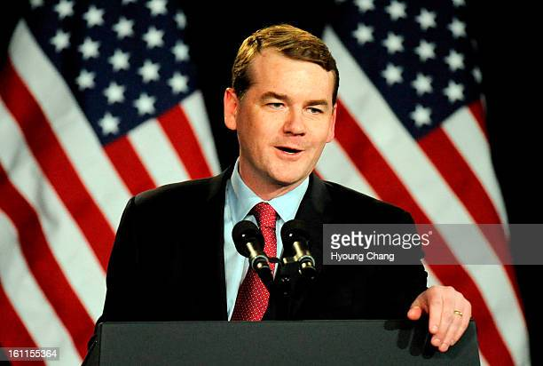 Senator Michael Bennet is in Fillmore Auditorium in Denver on Thursday President Barack Obama comes to Denver Colorado to campaign on behalf of...