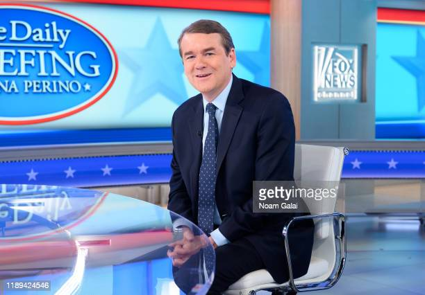 Senator Michael Bennet visits FOX News Channel's The Daily Briefing with Dana Perino at the Fox News Studios on November 22 2019 in New York City