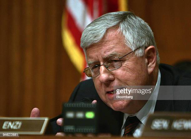 Senator Michael Enzi of Wyoming speaks at a Senate Health, Education, Labor and Pensions Committee hearing on regulation of tobacco by the Food and...