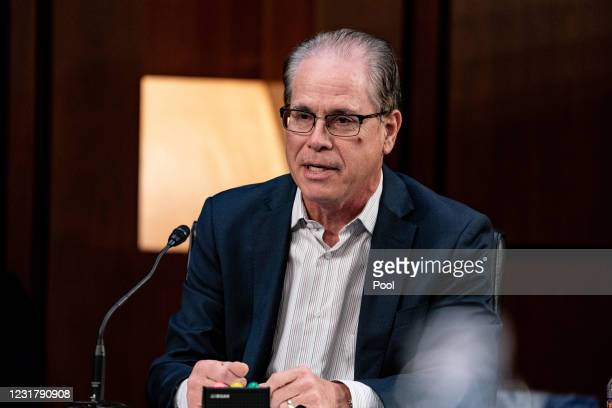 Senator Mike Braun, R-IN., speaks during a hearing with the Senate Committee on Health, Education, Labor, and Pensions, on the Covid-19 response, on...