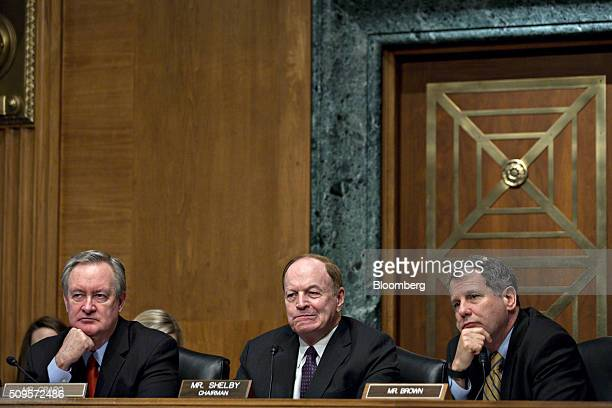 Senator Mike Crapo a Republican from Idaho from left Senator Richard Shelby a Republican from Alabama and chairman of the Senate Banking Committee...