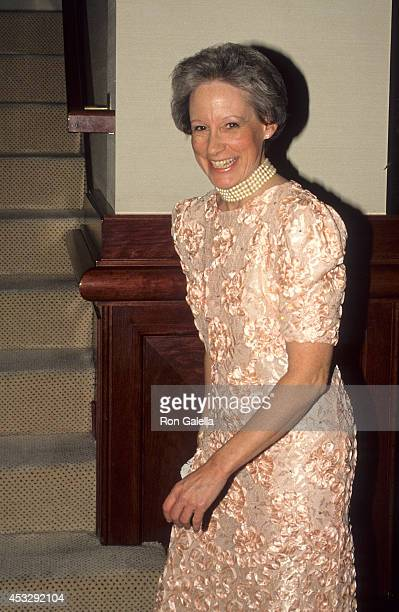 Senator Nancy Kassebaum attends the 103th Annual Gridiron Club Dinner on March 26 1988 at Capitol Hilton Hotel in Washington DC