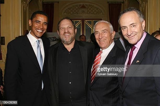 Senator Obama Harvey Weinstein Senator Lautenberg and Senator Schumer *EXCLUSIVE*