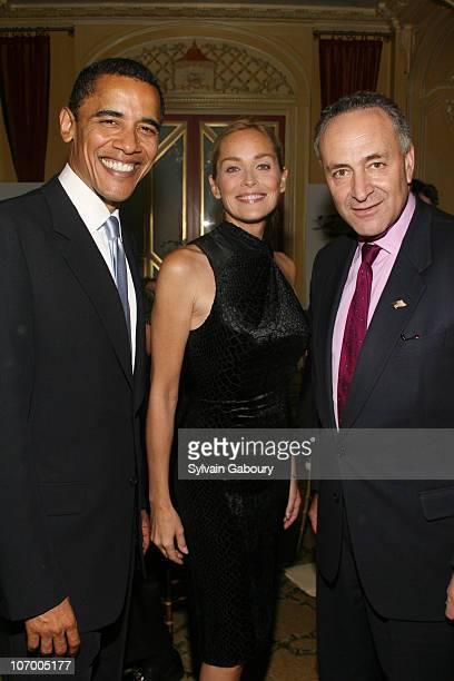 Senator Obama Sharon Stone and Senator Schumer *EXCLUSIVE*