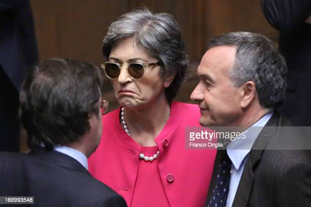 Senator of Democratic Anna Finocchiaro attends as Parliament elects a new President of Republic on April 19 2013 in Rome Italy More than 1000...