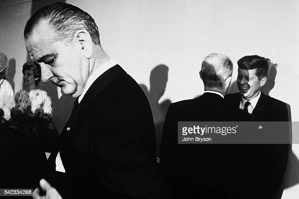 Senator of Massachusetts John F Kennedy nominated as Democratic candidate for the 1960 presidential election and his running mate for the...