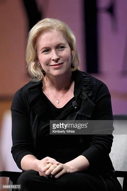 "Senator of New York Kirsten Gillibrand speaks onstage during ""Disrupting Politics"" at the Vanity Fair New Establishment Summit at Yerba Buena Center..."