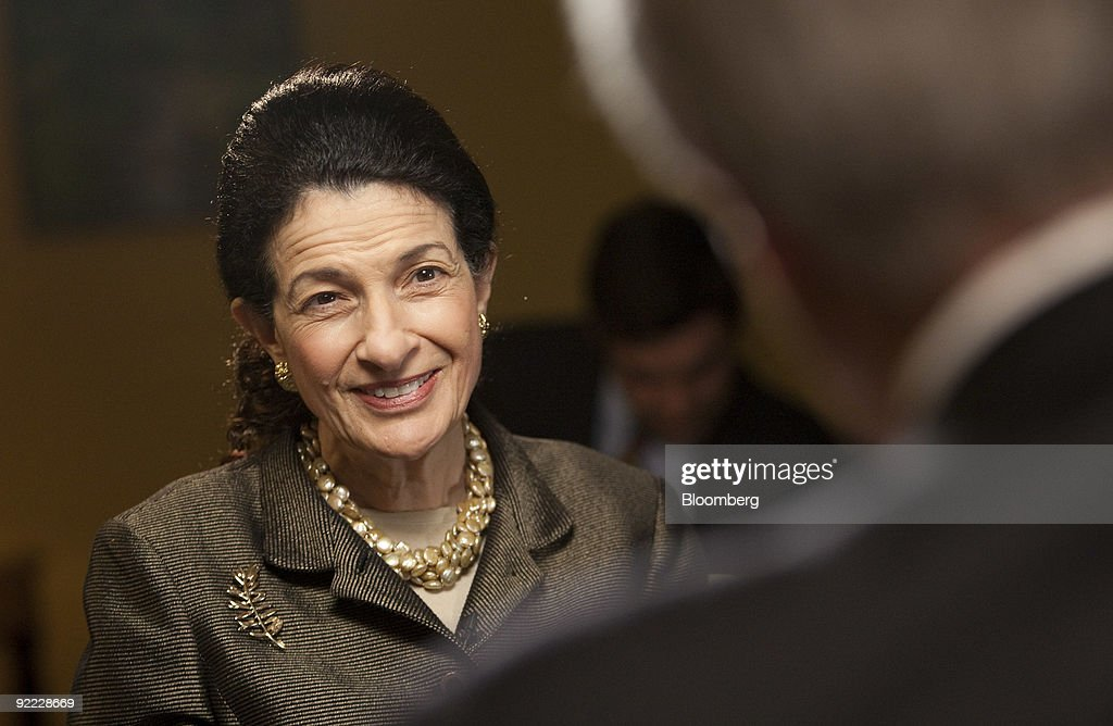 Senator Olympia Snowe Speaks During An Interview